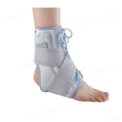 Бандаж для голеностопного сустава WellCare 62020 с затяжкой для дополнительной фиксации, размер L