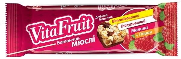 Батончик-мюсли Vita Fruit Малина по 25 г в оберт.