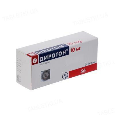 Диротон таблетки по 10 мг №56 (14х4)