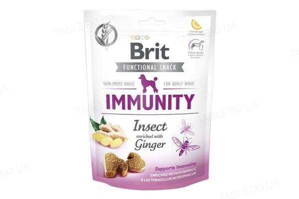 Лакомство для собак Brit Care Immunity насекомые с имбирем, 150 г