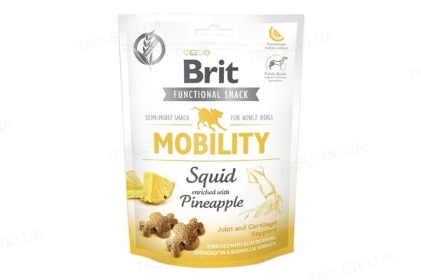 Лакомство для собак Brit Care Mobility кальмар с ананасом, 150 г