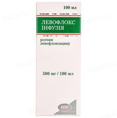 Левофлокс Инфузия раствор д/инф. 500 мг/100 мл по 100 мл во флак.
