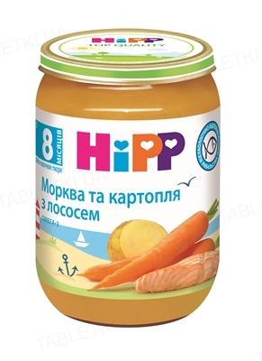 Рыбно-овощное пюре HiPP «Морковь и картофель с лососем», 190 г