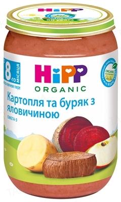 Мясо-овощное пюре HiPP «Картофель и свекла с говядиной», 220 г