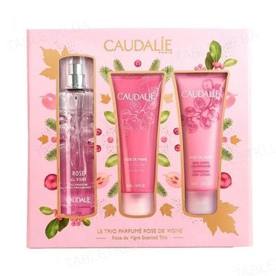 Набор Caudalie Rose de Vigne (туалетная вода, 50 мл + гель для душа, 50 мл + питательный крем для тела, 50 мл)