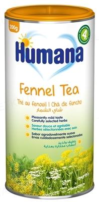 Чай Humana с фенхелем и тмином растворимый для детей с 4 месяцев, 200 г