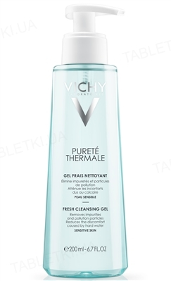 Гель Vichy Purete Thermale освежающий очищающий, для всех типов кожи, даже чувствительной, 200 мл