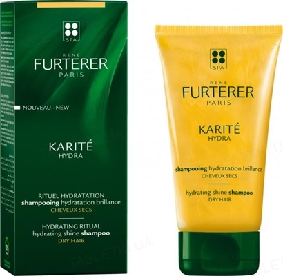 Шампунь Rene Furterer Karite Hydra Увлажняющий для сияния волос, 150 мл