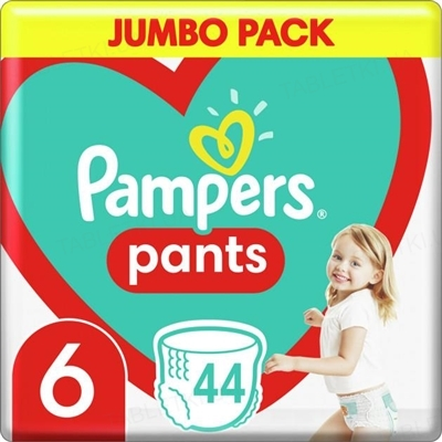 Підгузки-трусики дитячі Pampers Pants розмір 6, 15+ кг, 44 штуки