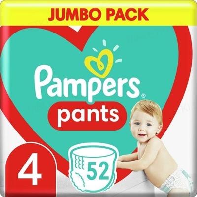 Подгузники-трусики детские Pampers Pants размер 4, 9-15 кг, 52 штуки