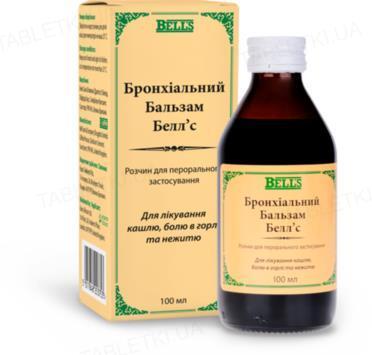 Бронхиальный бальзам Белл'с раствор д/перор. прим. по 100 мл в бутыл.