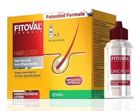 Лосьон Фитовал Формула против выпадения волос, 2 флакона по 40 мл