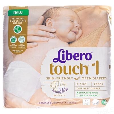 Підгузки Libero Touch розмір 1, від 2 до 5 кг, 22 штуки
