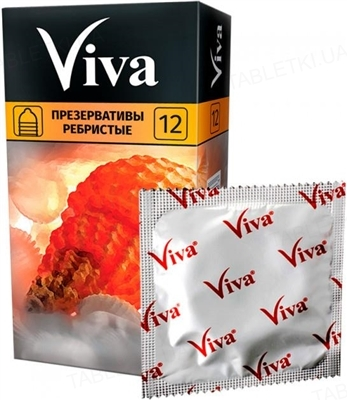 Презервативы Viva Ребристые, 12 штук