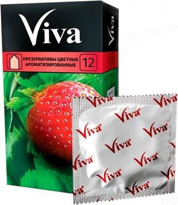 Презервативы Viva Цветные ароматизированные, 12 штук