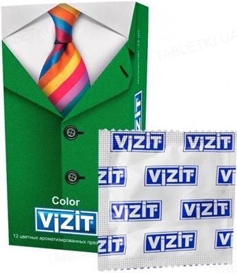 Презервативы Vizit Color цветные, 12 штук