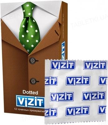 Презервативы Vizit Dotted с пупырышками, 12 штук
