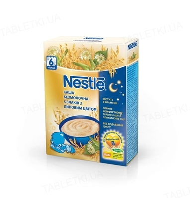 Безмолочная каша Nestle 5 злаков с липовым цветом, 200 г