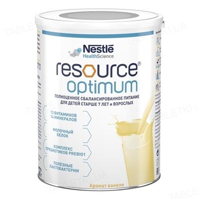 Продукт спеціального харчування Nestle Resource Optimum ACB011, суха суміш з ароматом ванілі, 400 г
