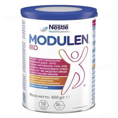 Продукт спеціального харчування Nestle Modulen IBD ACD013-1, суха суміш з нейтральним ароматом, 400 г
