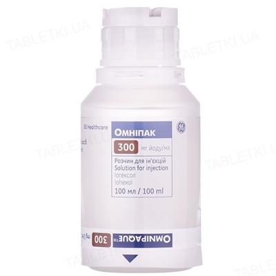 Омнипак раствор д/ин. 300 мг йода/мл по 100 мл №10 во флак. полипроп.