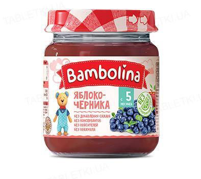 Фруктовое пюре Bambolina Яблоко-черника, 100 г