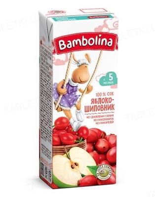 Сок Bambolina Яблоко-шиповник, 200 мл
