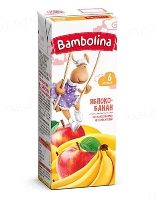 Сок Bambolina Яблоко-банан, 200 мл