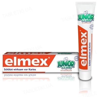 Зубная паста Elmex Junior, с 6 лет, 75 мл