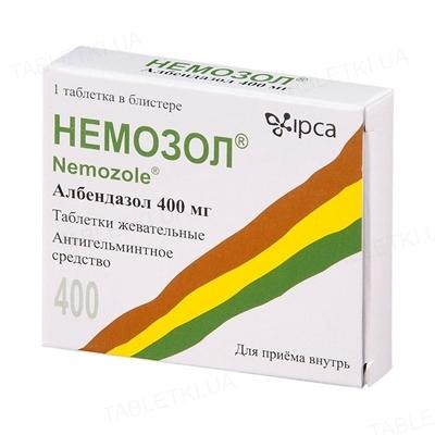 Немозол таблетки, п/плен. обол. по 400 мг №1