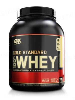 Протеин Optimum Nutrition 100% Whey Gold Standard, французский ванильный крем, 2,27 кг