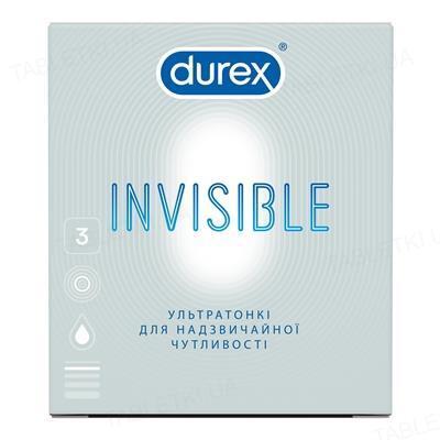 Презервативы латексные Durex Invisible ультратонкие, 3 штуки