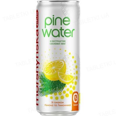 Напиток сокосодержащий Моршинская плюс Pine Water слабогазированный, лимон и лимонник, 0,33 л