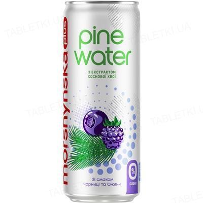 Напиток сокосодержащий Моршинская плюс Pine Water слабогазированный, черника и ежевика, 0,33 л