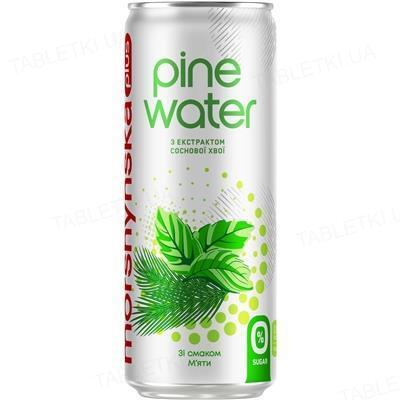 Напиток сокосодержащий Моршинская плюс Pine Water слабогазированный, мята, 0,33 л