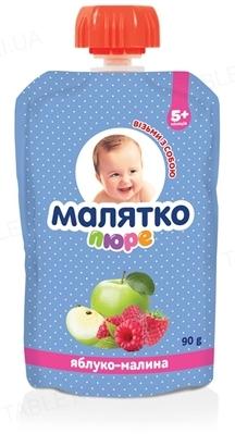 Пюре фруктовое Малятко Яблоко и малина, 90 г