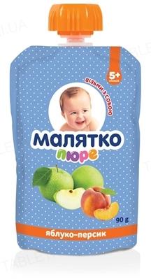 Пюре фруктовое Малятко Яблоко и персик, 90 г