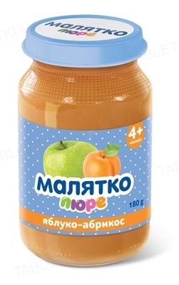 Пюре фруктовое Малятко Яблоко и абрикос, 180 г