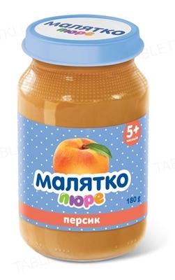 Пюре фруктовое Малятко Персиковое, 180 г