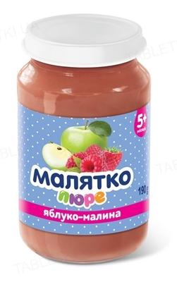 Пюре фруктовое Малятко Яблоко и малина, 190 г