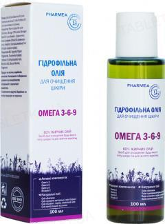 Масло гидрофильное Pharmea Омега 3-6-9 для очистки кожи, 100 мл