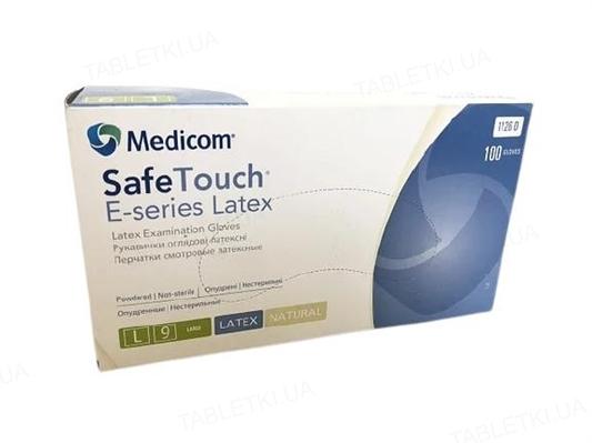 Перчатки смотровые Medicom Safe-Touch E-Series латексные припудренные, размер L, нестерильные, 50 пар