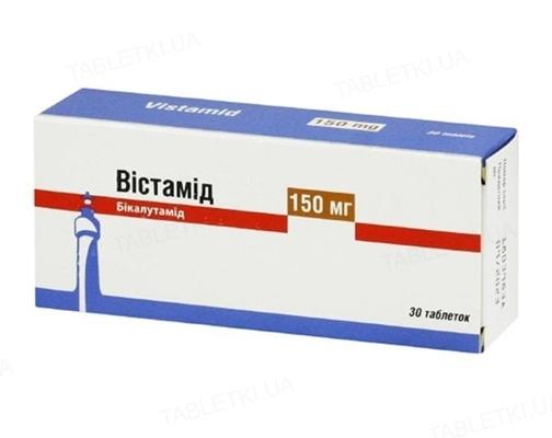 Вістамід таблетки, в/плів. обол. по 150 мг №30 (10х3)
