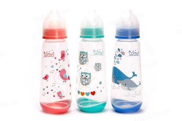 Бутылочка для кормления Lindo LI 112 с силиконовой соской, от 3-х месяцев, 250 мл