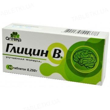 Глицин В таблетки по 250 мг №50