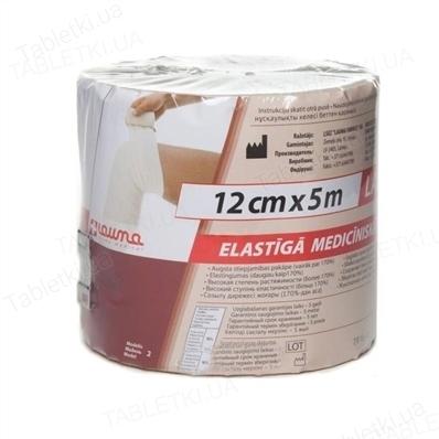 Бинт эластичный ленточный Lauma Latex Free медицинский, высокой растяжимости размер 5 м х 12 см