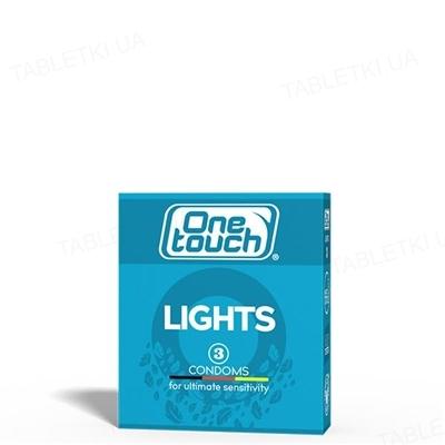 Презервативы One Touch Lights особо тонкие, 3 штуки