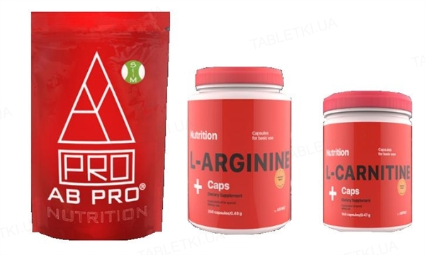 Комплект AB PRO Жиросжигание (рельеф) Medium (система для похудения, аминокислоты, жиросжигатель)