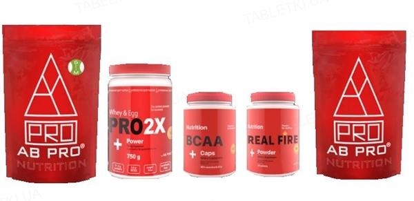 Комплект AB PRO Жиросжигание (рельеф) PRO (система для похудения, протеин, аминокислоты, предтренировочный комплекс, жиросжигатель)