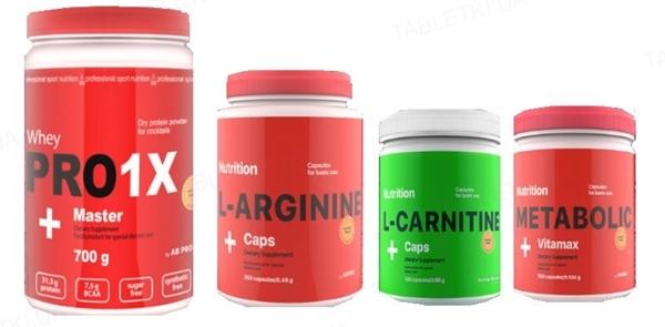 Комплект AB PRO Здоровье и функциональность Medium (протеин, аминокислоты, жиросжигатель, комплексный витамин)